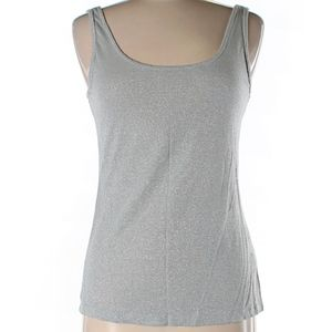 J. Lo Ribbed Tank with Silver Shimmer